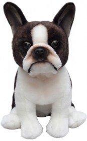 (Plush Dog BOSTON TERRIER- Soft Toy 12'')