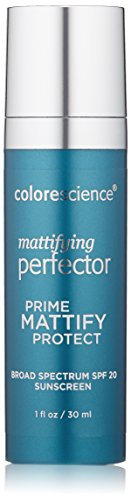 Colorescience Mattifying Perfector Face Primer, Water Resistant Mineral Sunscreen, Broad Spectrum 20 SPF UV Skin Protection, 1 Fl Oz by Colorescience