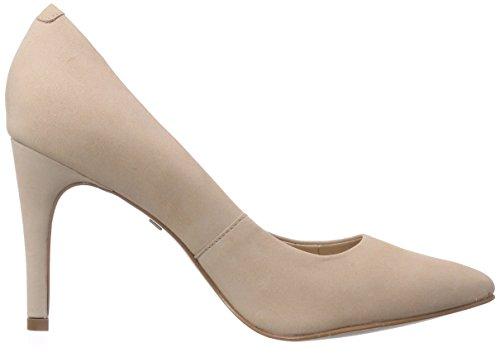 Buffalo London ZS 1969L NOBUCK - zapatos de tacón cerrados de cuero mujer beige - Beige (ROSE 37)