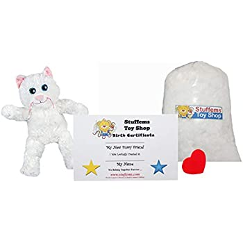 No Sewing ... Make Your Own Stuffed Animal Mini 8 Inch Marshmallow the Cat Kit Stofftiere