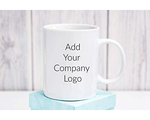 Personalized Custom Company Logo Coffee Mug Add Your own Artwork Cup 11 oz (Best Advertising For Realtors)