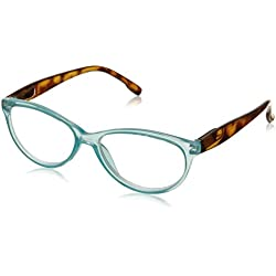 Peepers Women's Birds Of Paradise 2248250 Cateye Reading Glasses, Teal, 53 mm