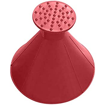 Wenini Snow Shovel for Car Window, Scrape A Round Magic Cone-Shaped Windshield Ice Scraper Snow Shovel Tool, Plastic Snow Remover for Car SUV Truck (Red)