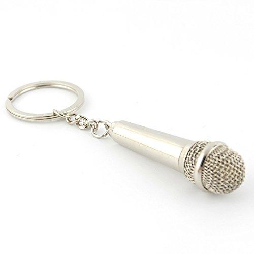 Micrófono Musical Keychian,Música Amante Rock Llavero Llavero Broche Llavero Llavero,Regalo Perfecto Creativo,Set 2