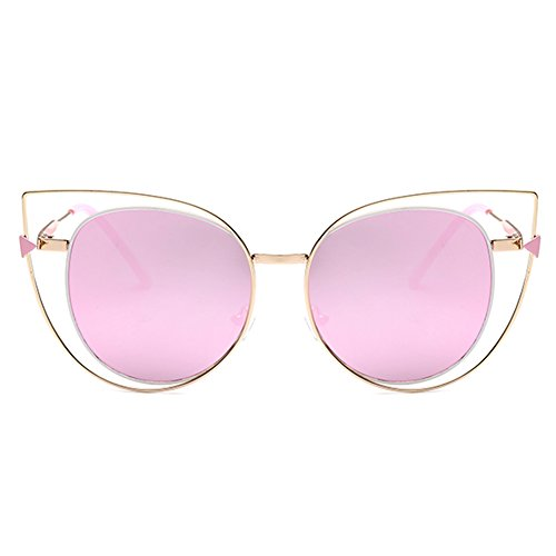 LOMEDO Womens Fashion Cat Eye Sunglasses Metal Frame - Rectangle Square & Revo Sunglasses