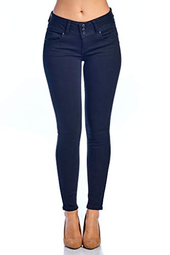 TwiinSisters Women's Butt Lift Mid-Rise Stretch Denim Skinny Jeans with ()