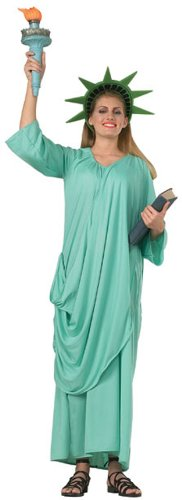 Rubie's Costume Patriotic Collection Adult Statue Of Liberty, Green, One Size Costume (Book Costumes For Adults)