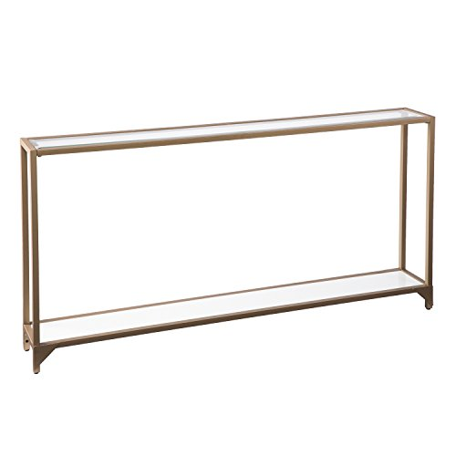 Furniture HotSpot - Metal Skinny Console Table - Gold - 56