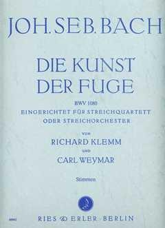 KUNST DER FUGE BWV 1080 - arrangiert für Streicher - Quartett [Noten / Sheetmusic] Komponist: BACH JOHANN SEBASTIAN - STR QUARTETT Musikverlag Ries & Erler GS101672