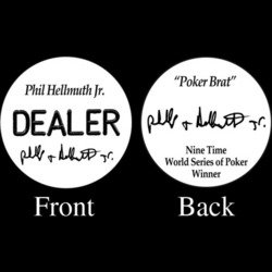 Trademark Phil Hellmuth Jr. Professional Collector's Dealer Button