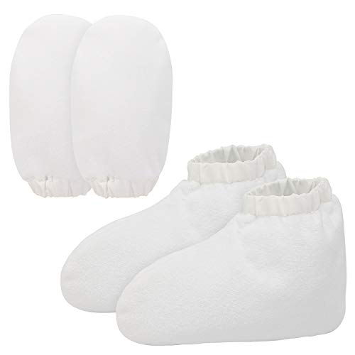 (Paraffin Wax Bath Gloves and Booties, Snug Elastic Opening Insulated Mitts and Cozies for Hands and Feet, Wax Bath Therapy, Therabath, Wax Care Treatment, Great for Paraffin Wax Machine)