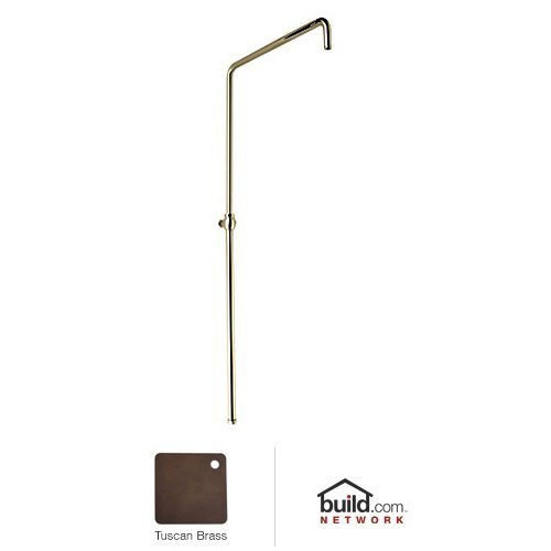 Rohl 1565TCB 1565 Country Bath Swiveling Riser with Hand Shower Hose And Parking Bracket, Tuscan Brass (Shower Bracket Hand Parking)