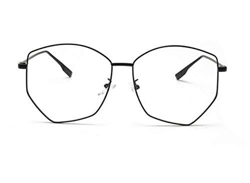 Black Gafas sol Marco Gafas Gafas Decoración de Moda Gran UV400 FlowerKui Protección Unisex qw84Pn7
