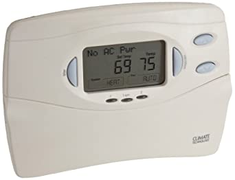 Supco 43058 Digital Multi-Stage Heat Pump Thermostat with With Auto Season Changeover, 45 to 95 Degree F, 20-30 VAC