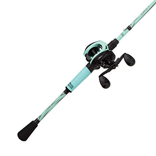 Abu Garcia Revo X LTD Baitcast Low Profile Reel and Fishing Rod Combo, 7', Medium Heavy, Seafoam