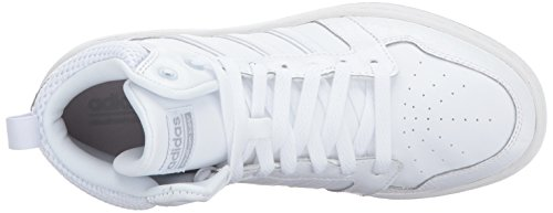 Adidas Neo Femmes Cf Superhoops Mid W Basketball Chaussure Blanc / Blanc / Mat Argent