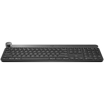 2da4494db4f Logitech Craft Advanced Wireless Keyboard with Creative Input Dial and  Backlit Keys, Dark grey and aluminum