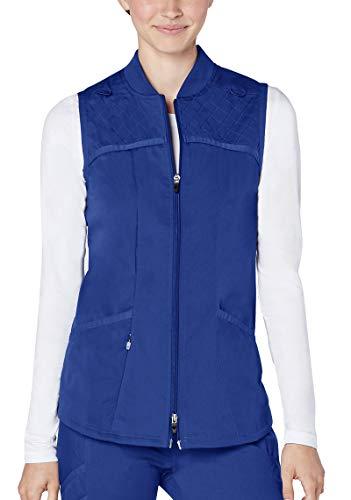 Adar Responsive Scrubs for Women - Active Scrub Bomber Vest - R6200 - Royal Blue - M