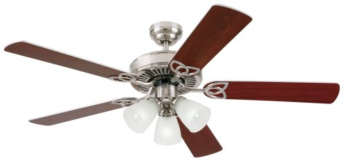 Westinghouse Lighting 7867865 Vintage 52 Inch Ceiling Fan, Brushed Nickel ()
