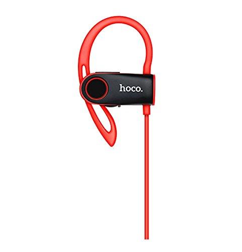 Auriculares deportivos inalámbricos bluetooth V4.1 Hoco ES9 de cordón In-Ear para correr, gimnasio muy comodos ergonómicos rojo-negro: Amazon.es: ...