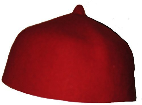 [Fair Trade Traditional Ethnic Red Moroccan Felt Fez Hat [Apparel]] (Ethnic Hats)