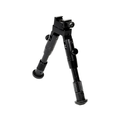 (UTG Shooter's SWAT Bipod, Rubber Feet, Height 6.2