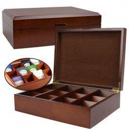 Dining Room Maple Cupboard - Quentin Tea Company Gourmet Tea Storage Chest- 144 Bag Capacity