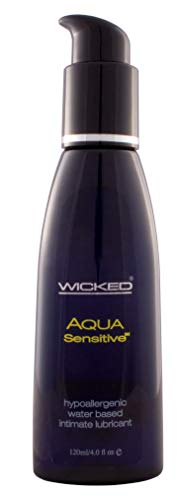 Wicked Sensual Care Wicked Aqua 4-Ounce Sensitive Water Based Lubricant