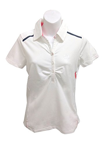 Sergio Tacchini Nerissa Women's Short Sleeve Polo White/Navy (X-small) (Tacchini Tennis Sergio Clothing)