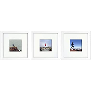 3 set tiny mighty frames wood square instagram photo frame - White Square Frames