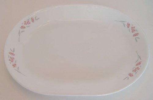 Blossom Oval Serving Platter - Corelle Silk Blossom Pink Flower Oval Serving Platter