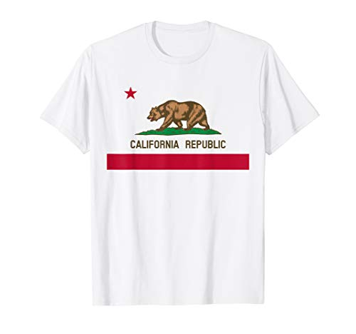 (California Republic Flag Patriotic State Travel USA Gift T-Shirt)