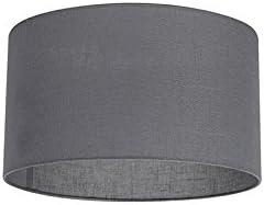 QAZQA Moderno Algodón y poliéster Pantalla tela gris oscuro 35/35/20, Redonda/Cilíndrica Pantalla lámpara colgante,Pantalla lámpara de pie: Amazon.es: Iluminación