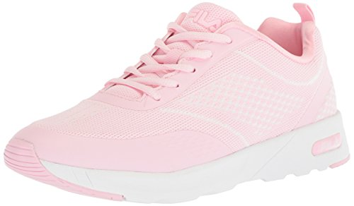 Fila Women's Memory Chelsea Knit Running Shoe, Pink/Pink/White, 8 Medium US
