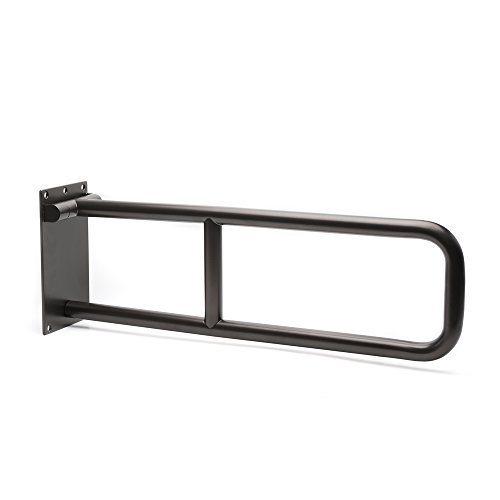 CSI Bathware BAR-FB29-125-OB Swing Down Flip up U-Shaped Stainless Steel Safety Bar, 29
