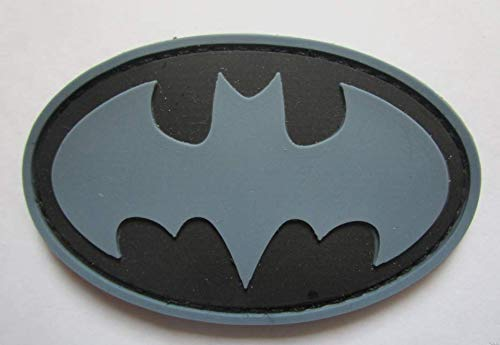 Batman Military PVC Patch Rubber Badges Patch Tactical Stickers for Clothes Back with Hook (color4)]()