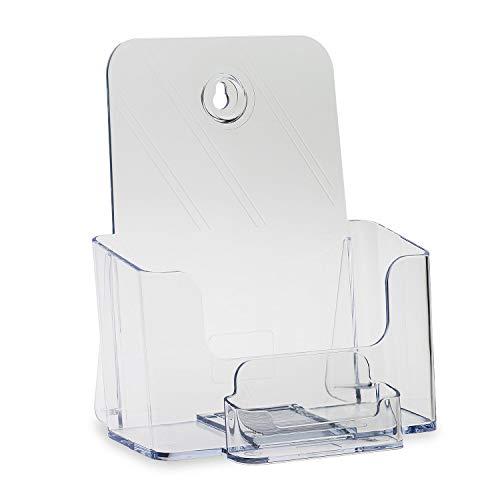 - Source One Bi Fold Brochure Holder Standard Booklet with Business Card Holder (36 Pack, Clear Pocket)