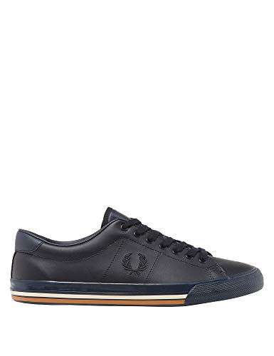Leather Underspin Fred Perry Sneakers Navy Men's 80mvwNn