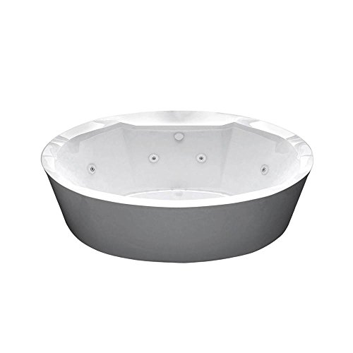 Sunstone 34 x 68 Oval Air & Whirlpool Water Jetted Bathtub by Universal Tubs