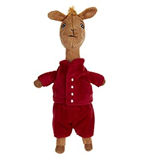 Llama Red Pajama Beanbag Stuffed Animal Plush Toy, 10""
