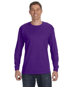 Adult Heavyweight Long Sleeve T-shirt - Adult Long-Sleeve Heavyweight Blend T-Shirt (Deep Purple) (Large)