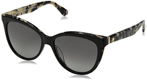 Kate Spade Women's Daesha/s Polarized Round Sunglasses, Black havana, 56 ()