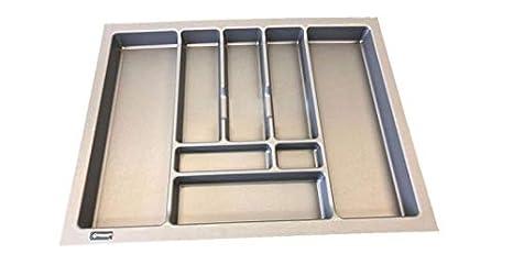 REJS Bandeja de cubiertos de cocina Pro 630mm x 490mm - TO FIT A 700mm DRAWER gris: Amazon.es: Hogar