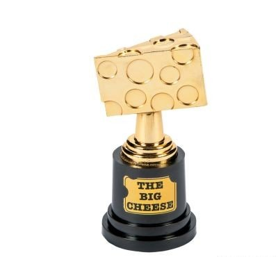Cool Fun 13614154 The Big Cheese Trophy-Pack of 12 (The Big Cheese compare prices)