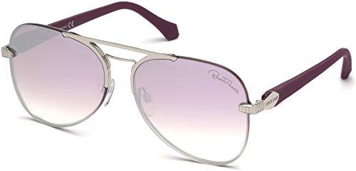 (Sunglasses Roberto Cavalli RC 1091 Monterotondo 16U Shiny Palladium, Rubberized)