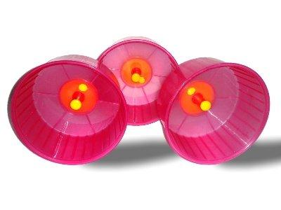 Zwerg Hamster oder Maus Laufrad in pink 12cm x 3Rollen