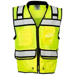ML Kishigo High Performance Surveyors Zipper Vest XL Lime