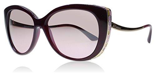 Bvlgari BV8178 11177E Dark Red BV8178 Cats Eyes Sunglasses Lens Category 2 Size
