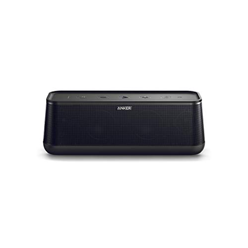 Anker SoundCore Pro+ 25W Bluetooth Speaker with Enhanced Bass and High Definition Sound, 18-Hour Playtime, Water-Resistant, BassUp Technology, Portable Design, Speaker for Home or Backyard