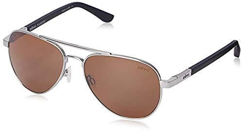 Revo Mens Polarized Sunglasses Raconteur Aviator Frame 58 mm, Chrome Frame, Terra (Revo Aviator)